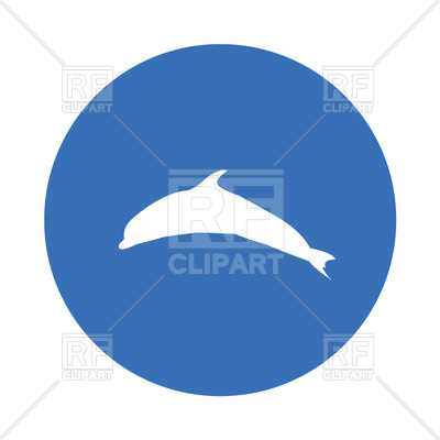 400x400 Silhouette Of Dolphin Free Download Vector Clip Art Image