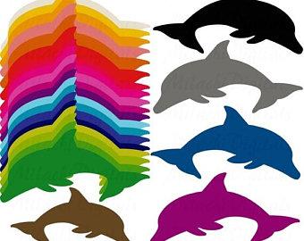 340x270 Dolphin Clipart Etsy