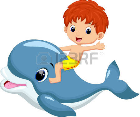 450x377 Dolphin Clipart Scene