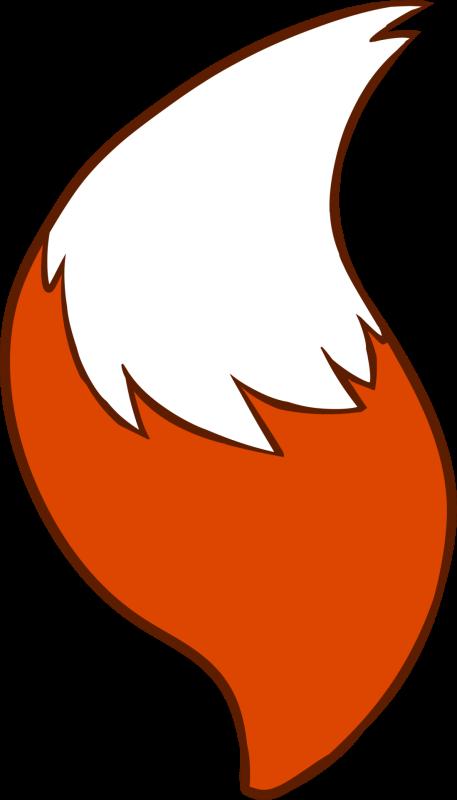 457x800 Fox Tail Clipart
