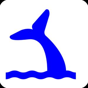 300x300 Blue Whale Tail Clip Art