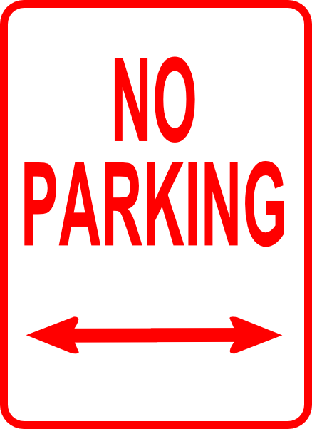 438x602 No Parking Sign Clip Art Free Vector 4vector