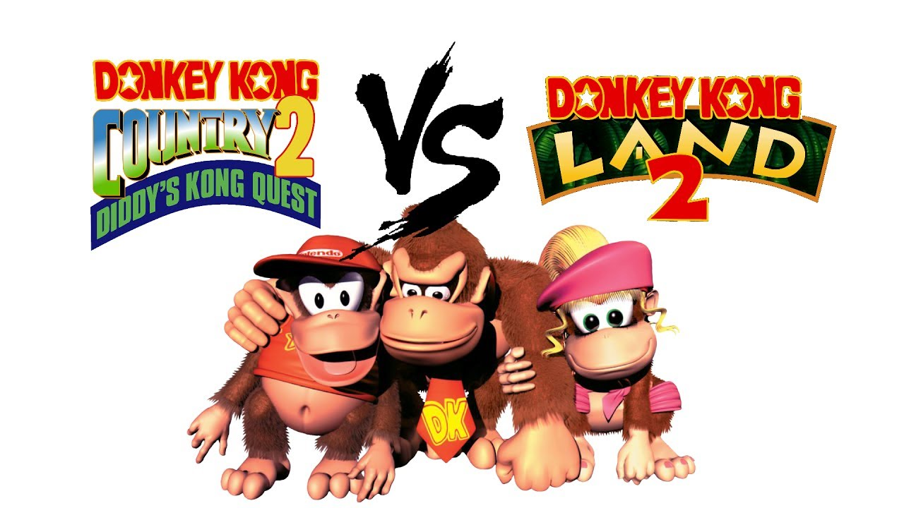 1280x720 Donkey Kong Country 2 Vs. Donkey Kong Land 2