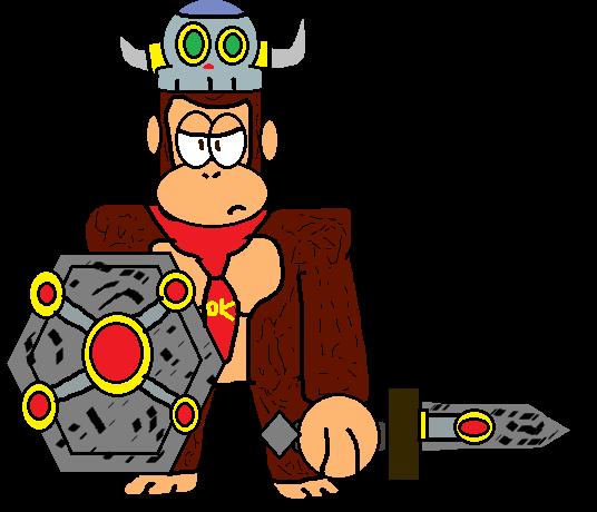 536x460 Donkey Kong As Soldier Stonekong By G1bfan