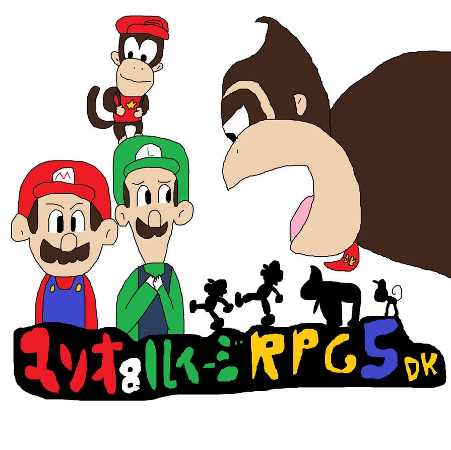 895x892 Mario And Luigi Rpg 5 Donkey Kong And Diddy Kong By Ericgl1996