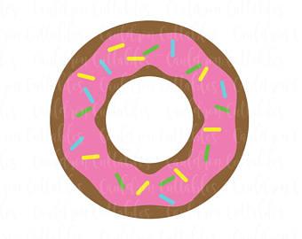 340x270 Kawaii Donut Clipart Sweet Doughnut Chocolate Blue Pink