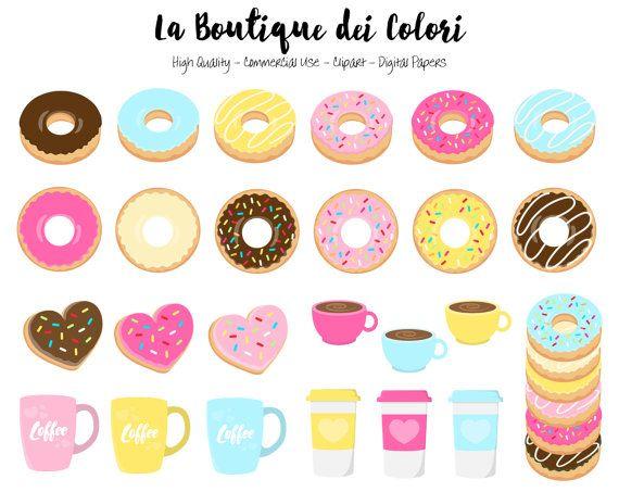 570x453 60 Doughnut Clipart, Cute Digital Illustrations Png, Donuts