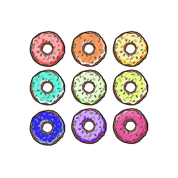 570x570 Donut Clip Art