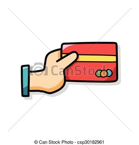 450x470 Credit Card Doodle Clip Art Vector