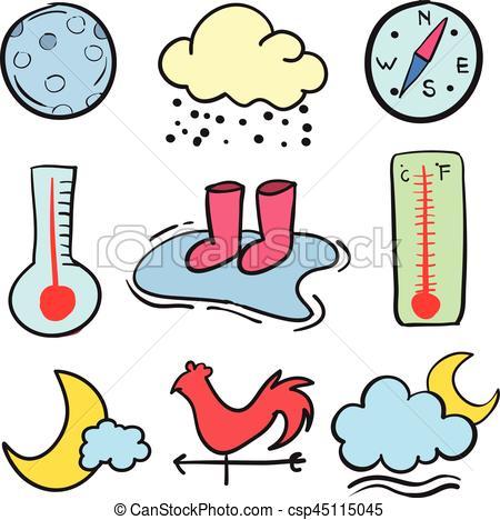 450x468 Doodle Of Element Weather Theme Vector Art Eps Vector