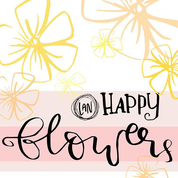 570x570 Hand Drawn Flowers Clip Art, Doodle Clipart, Hand Drawn, Png, Svg