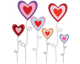 340x270 Heart Doodle Clip Art, Purple And Pink Heart Doodles, Love