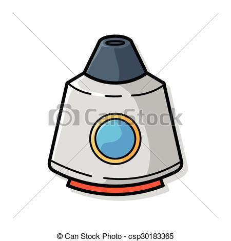 450x470 Spaceship Doodle Clip Art Vector