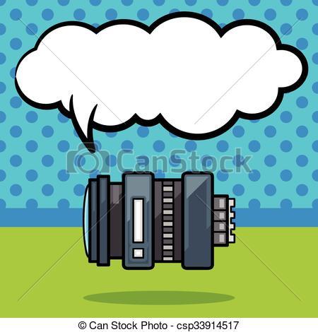 450x470 Camera Lens Doodle Vector Clip Art