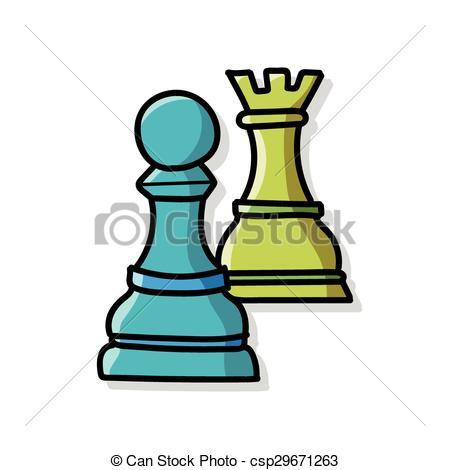 450x470 Chess Doodle Clip Art Vector