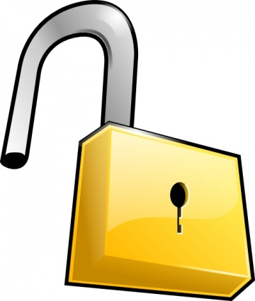 360x425 Clip Art Of Locks For Gates Clipart