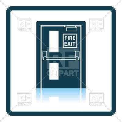 400x400 Fire Exit Door Icon Royalty Free Vector Clip Art Image