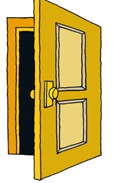 166x267 Front Door Clipart