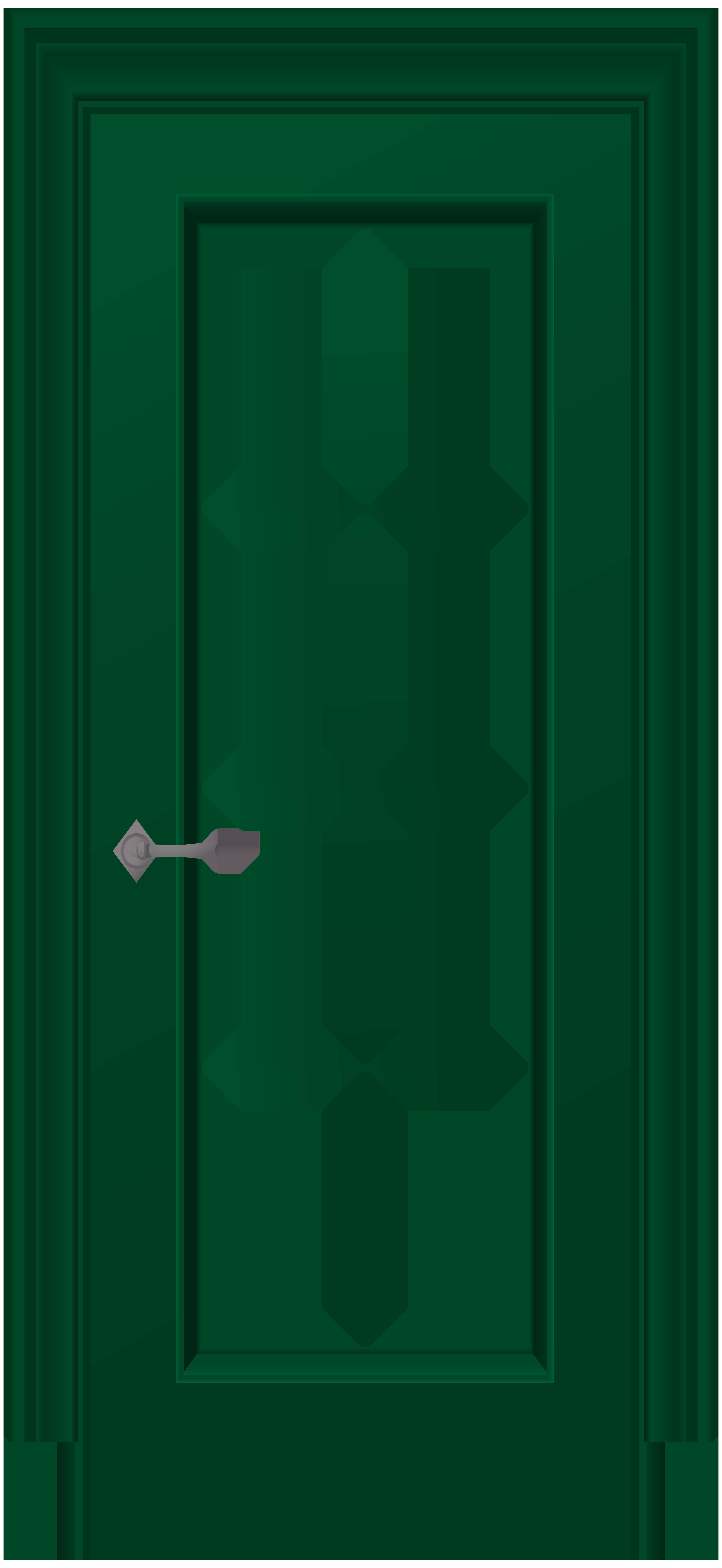 3685x8000 Green Door Png Clip Art