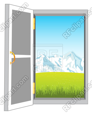 320x400 Openning Door In Nature On White Background Is Insulated Royalty