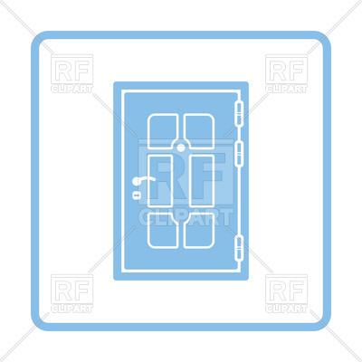400x400 Apartments Door Blue Icon Royalty Free Vector Clip Art Image