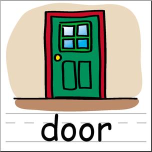 304x304 Clip Art Basic Words Door Color Labeled I Abcteach