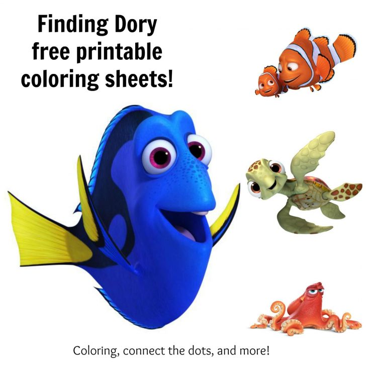 728x728 Coloring Book And Pages 47 Excelent Dory Coloring Pages