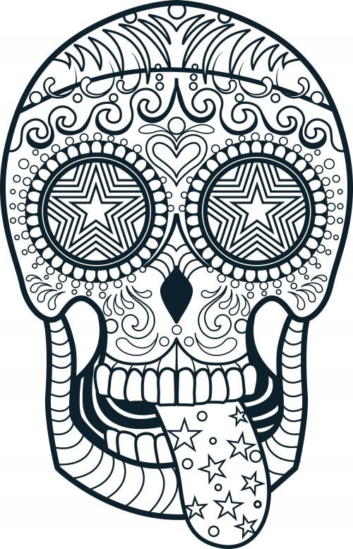 500x777 Skull Coloring Pages Printable 0