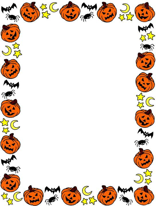 545x720 Halloween Clipart Page Border 3591441