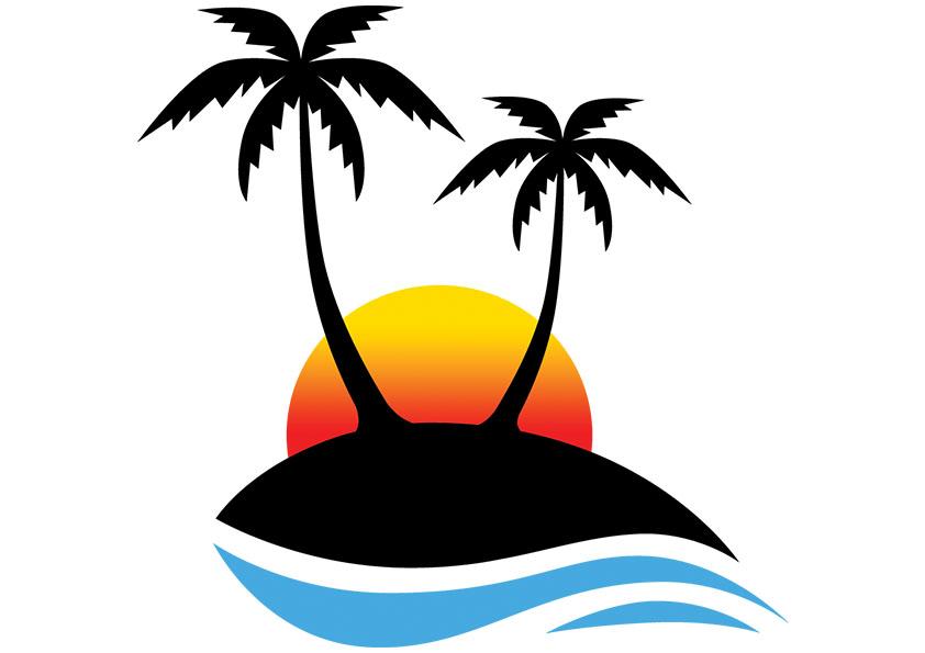 842x595 Sunset Beach Clipart