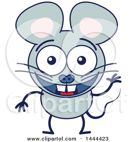 450x470 Clipart Of A Cute Happy Dormouse Inside A Heart Patterned Tea Cup