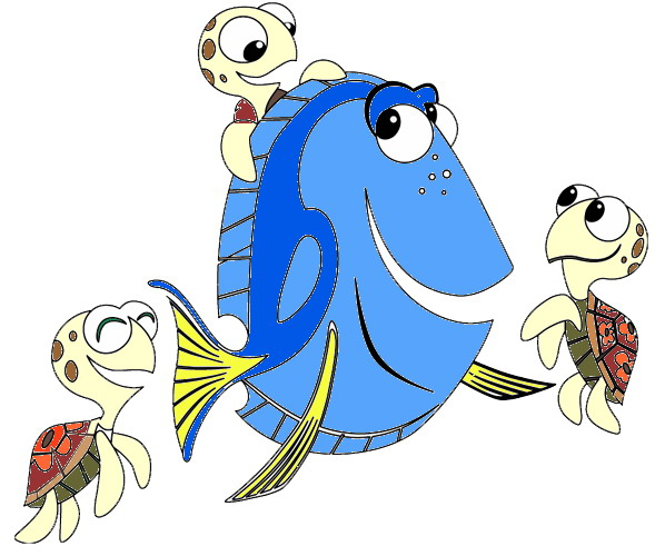 589x500 Finding Dory Clipart