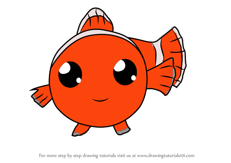 800x567 Learn How To Draw Kawaii Nemo From Finding Dory (Kawaii Characters