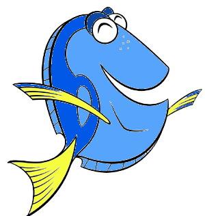 300x316 Dory Finding Nemo Clipart