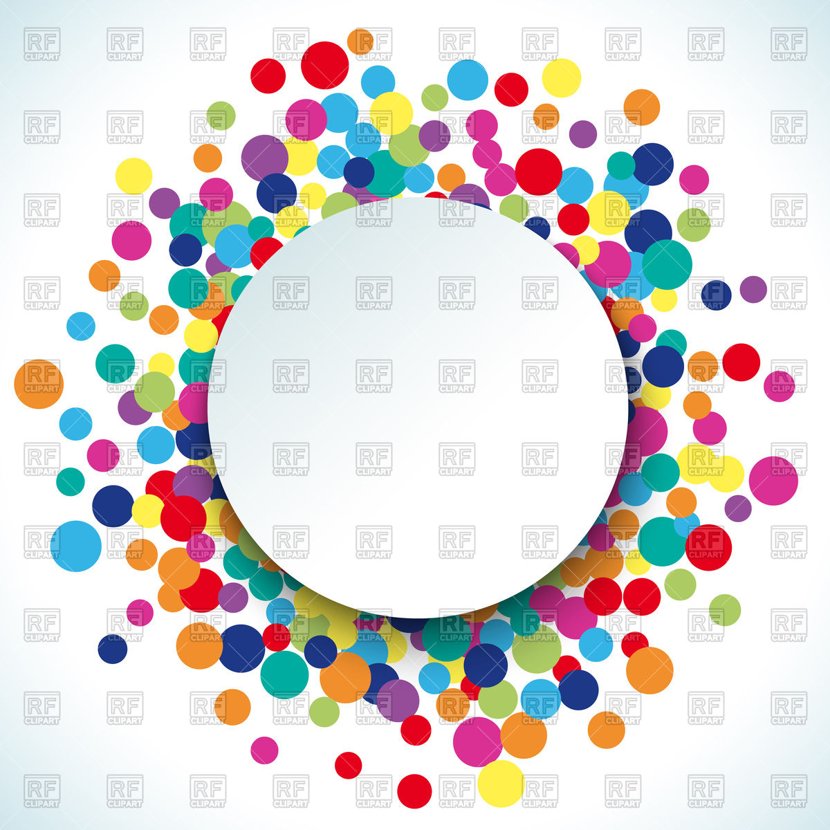1200x1200 Colorful Dot Background With Circle For Text Royalty Free Vector