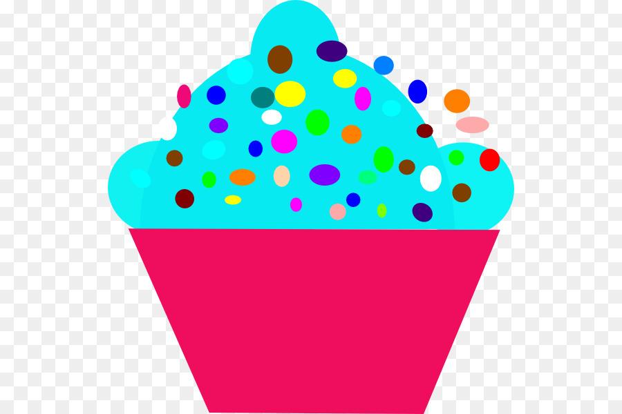 900x600 Cupcake Polka Dot Clip Art