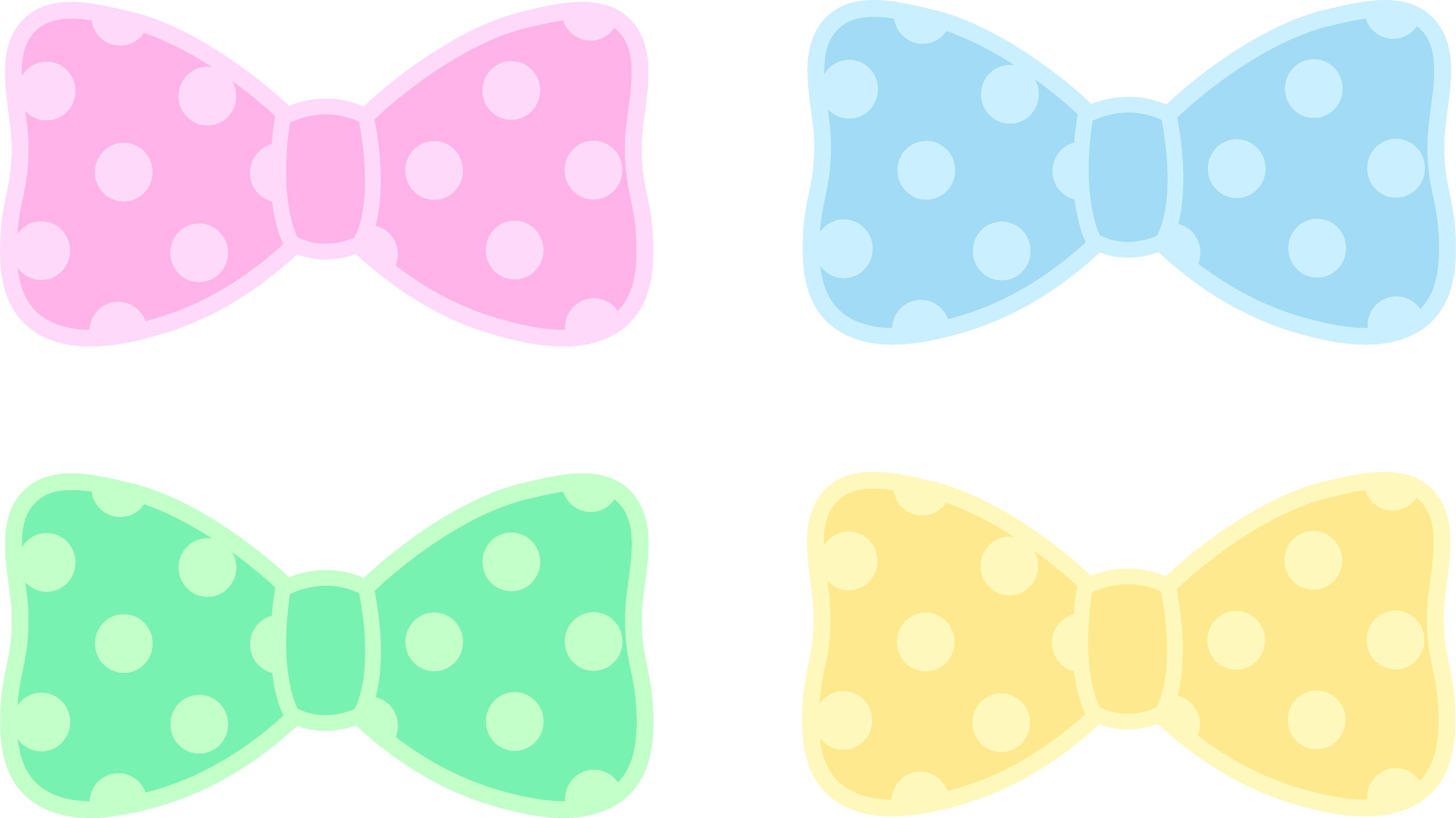 5372x3020 Cute Polka Dot Pastel Bows