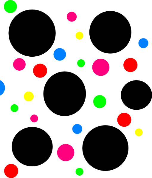 510x597 Light Blue Polka Dots Clip Art