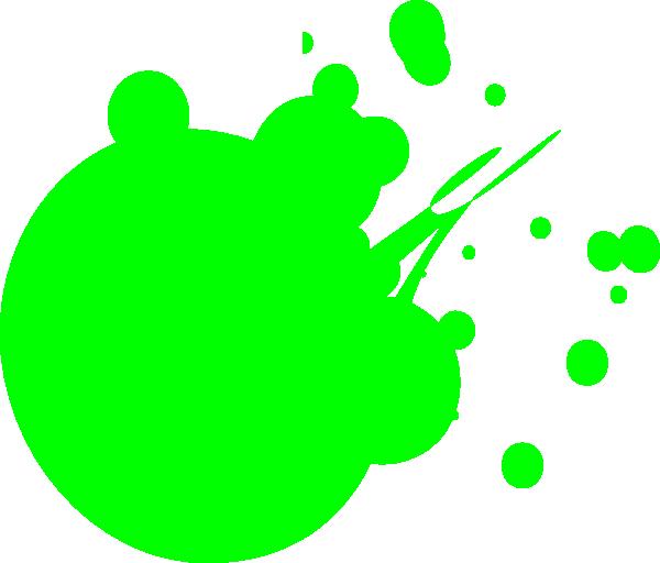 600x512 Light Green Dot Splat Clip Art