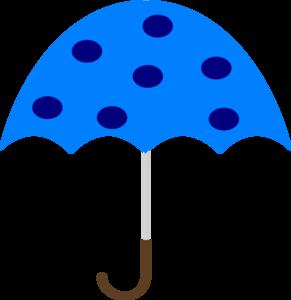 291x300 Polka Dot Umbrella Clip Art
