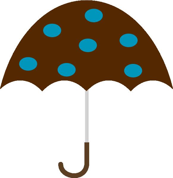 582x599 Polka Dot Umbrella Png, Svg Clip Art For Web