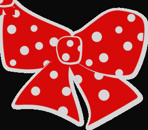 299x261 Red Polka Dot Bow Clipart