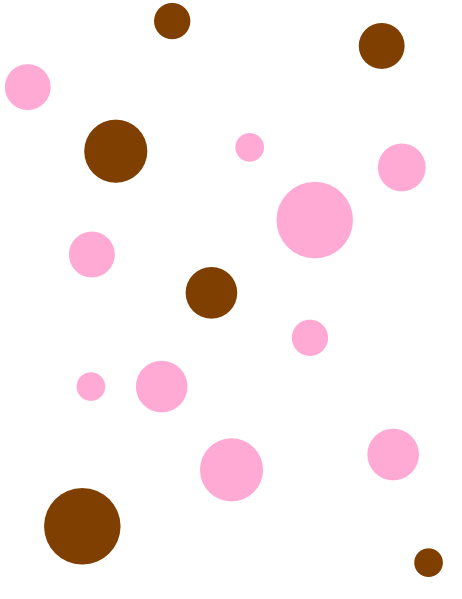 462x599 Brown Amp Pink Polka Dots Clip Art