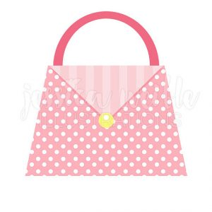 300x300 Cute Purse Clipart Polka Dot Pink Purse Cute Digital Clipart