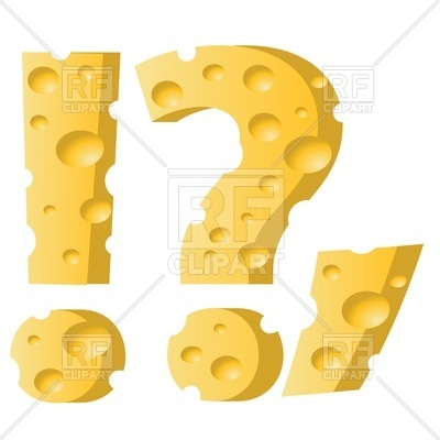 400x400 Font Made Of Cheese, Question Mark, Dot, Comma And Exclamation