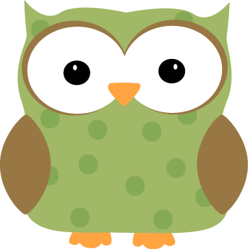 354x355 Green Polka Dot Owl Pic