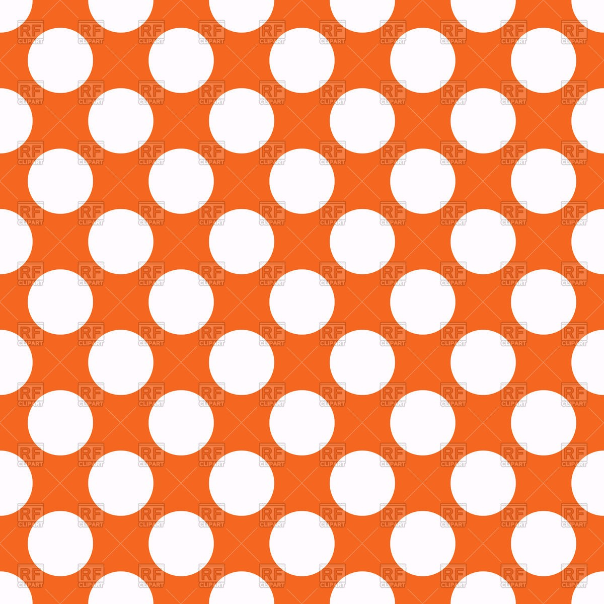 1200x1200 Orange Seamless Polka Dot Background Royalty Free Vector Clip Art