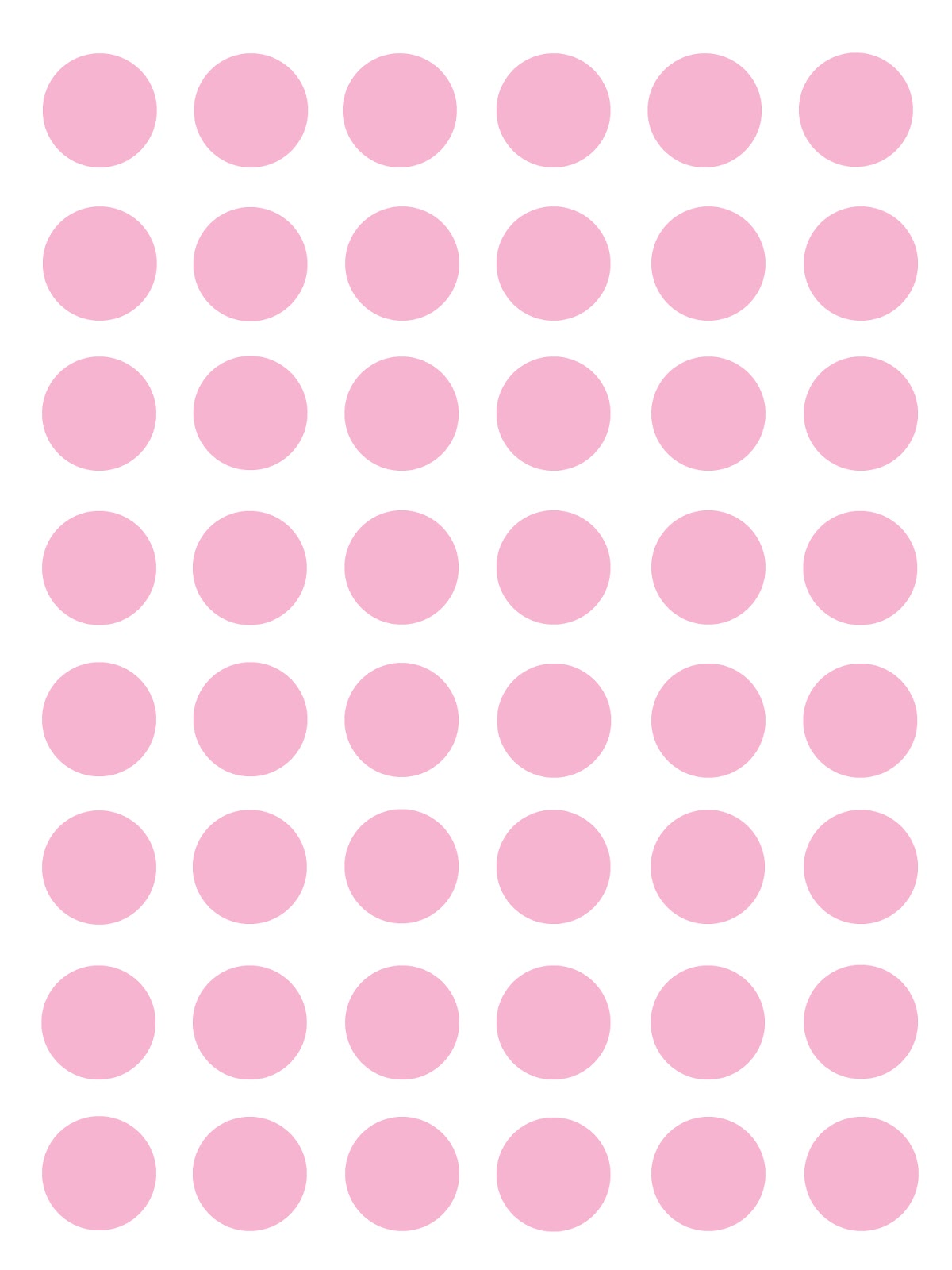 1200x1600 Pink And White Polka Dots Clip Art