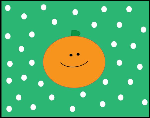 604x476 Polka Dot Pumpkin Clipart
