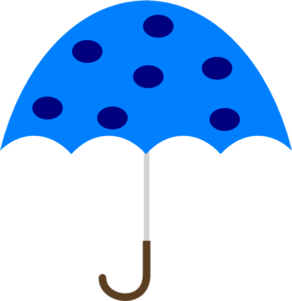 582x599 Polka Dot Umbrella Clip Art